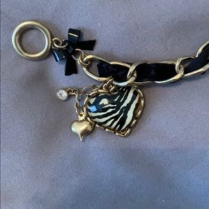 Betsey Johnson zebra charm bracelet